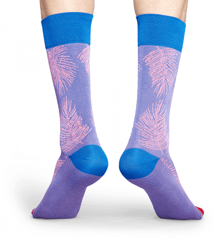Happy Socks Dressed Palm Leaf Sock - The Passionate Collector