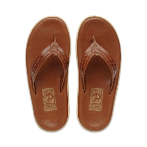 Men's Leather Whiskey Sandals by Island Slipper