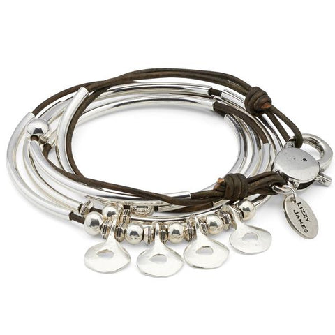 Lizzy James Quartet Leather Bracelet/Necklace - The Passionate Collector