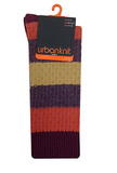 Urban  Knit ORANGE AND BROWN STRIPE SOCKS - The Passionate Collector