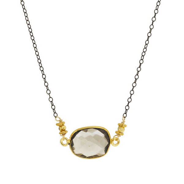 Vermeil and Gemstone Pendant Necklace