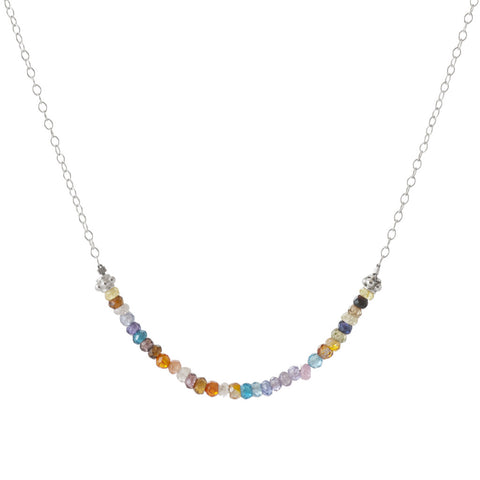 Triesi Silver Chain Necklace with Beads