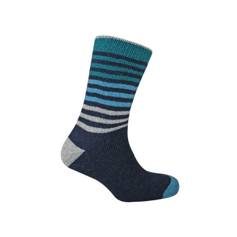 Urban  Knit BLUE OMBRE STRIPE SOCKS - The Passionate Collector