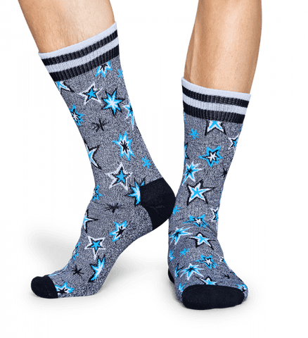 Happy Socks Mens Crew Bang Sock - The Passionate Collector
