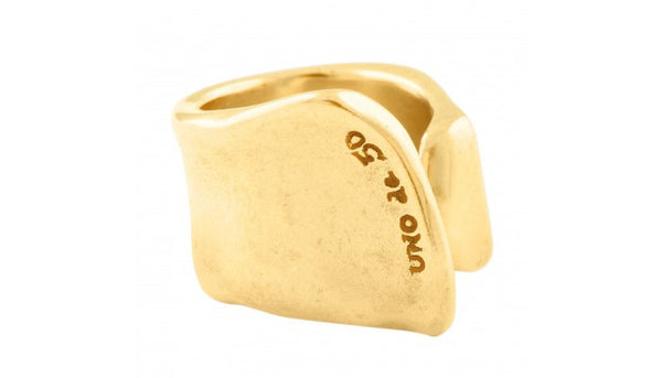 Uno de 50 Gold Crack Ring