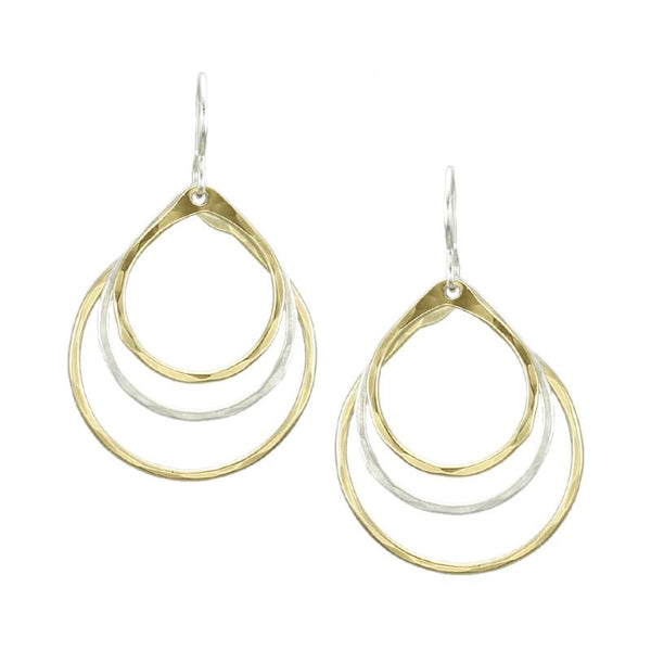 Marjorie Baer Tiered Teardrop Earrings - The Passionate Collector