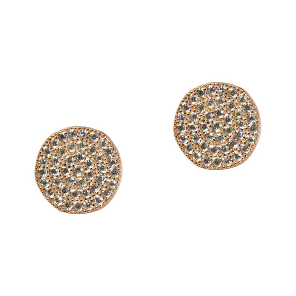 G2G Round Crystal Stud Earrings