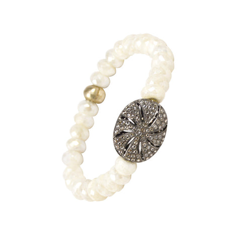 G2G Diamond Floral Bracelet with Silverite - The Passionate Collector