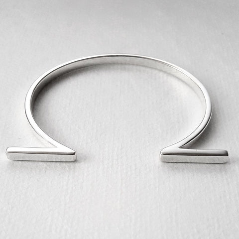 Louven Split Bar Silver Cuff - The Passionate Collector