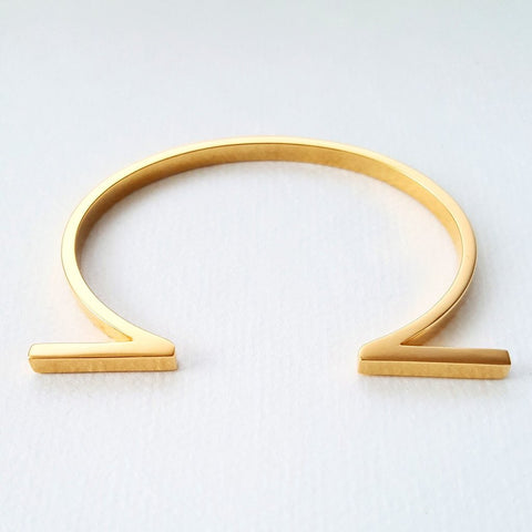 Louven Split Bar 18K Gold Plated Cuff - The Passionate Collector