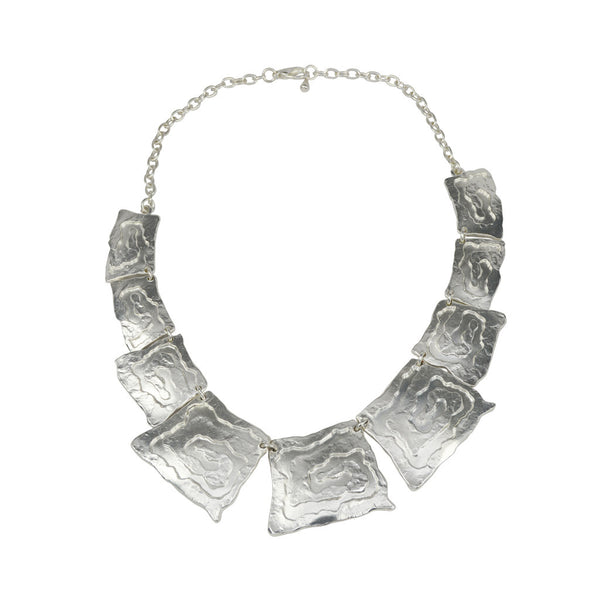 Karine Sultan Silver Multi Tile Necklace