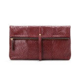 Jinammi Embossed  Ruby Wine Lizard Clutch