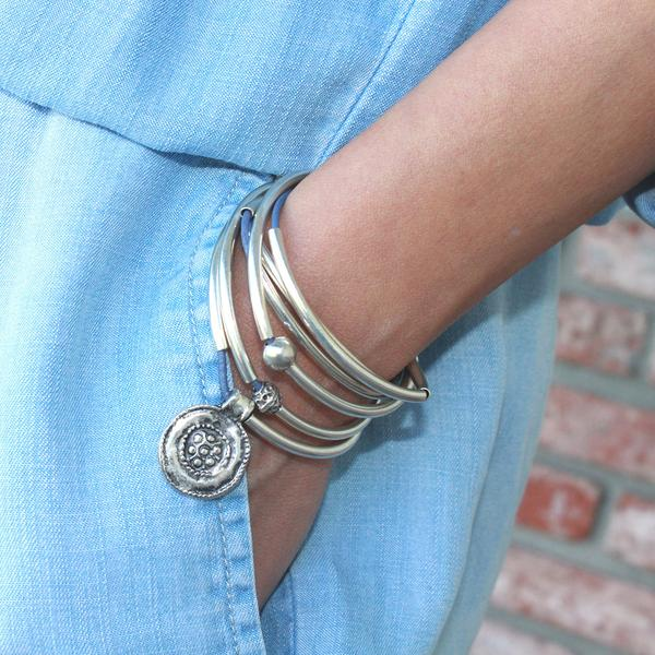 Lizzy James Summer Leather Bracelet/Necklace - The Passionate Collector