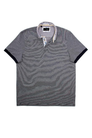 Eight X Striped Navy Polo Shirt - The Passionate Collector