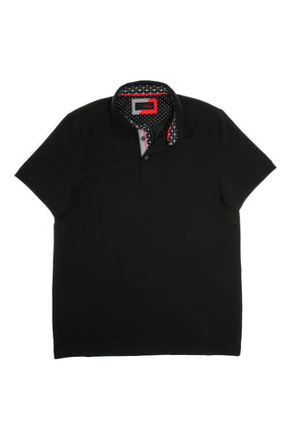 Eight X Solid Black Polo Shirt - The Passionate Collector