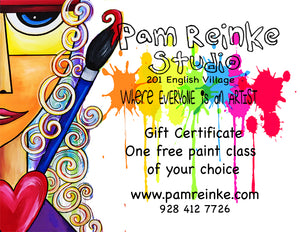 Gift Certificates for Adult Beginner Paint Night Classes
