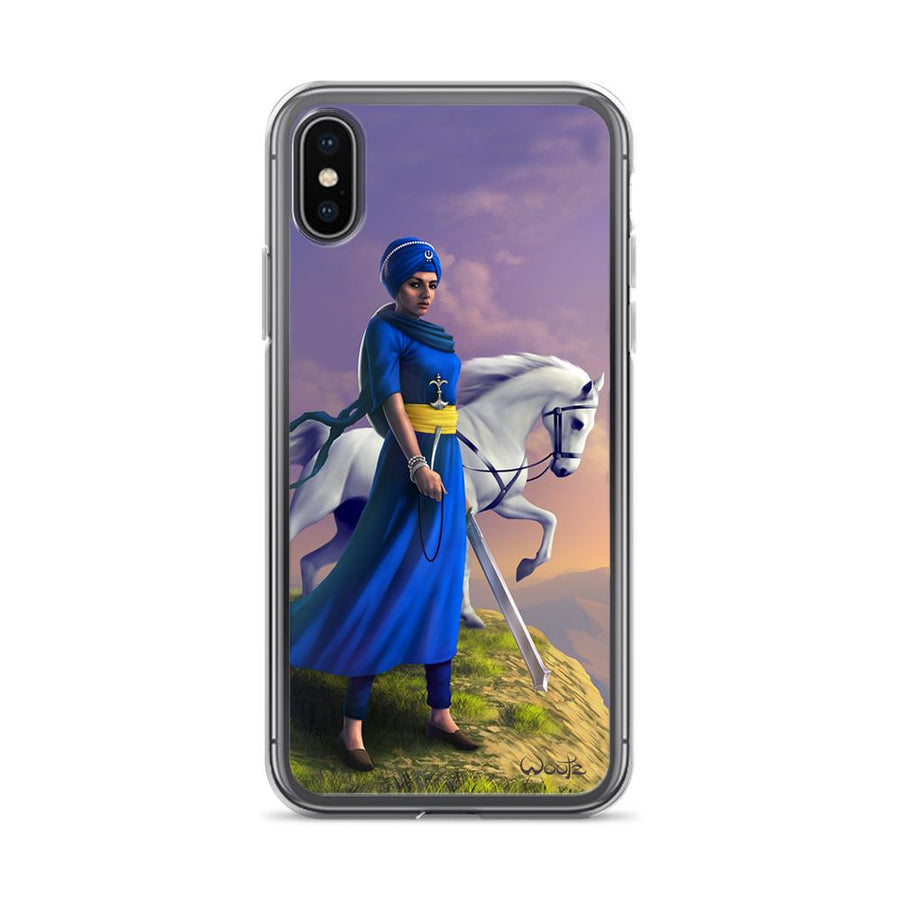 Mai Bhago Colour iPhone X Clip on Case