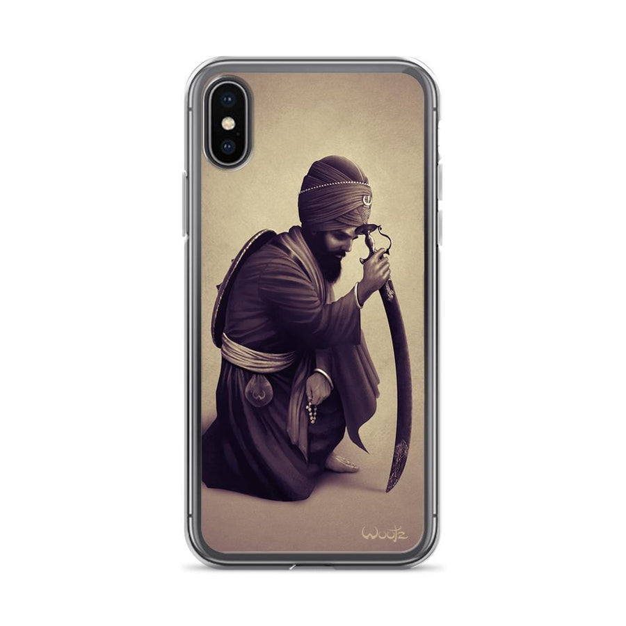 Contemplation Sepia iPhone X Clip on Case