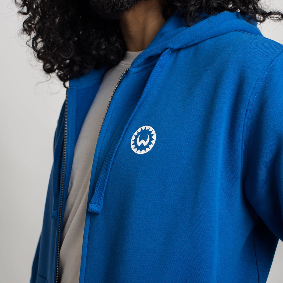 Shield Zip Hoodie Royal Blue