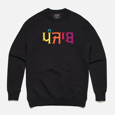 Punjab Multicolour Text Sweatshirt