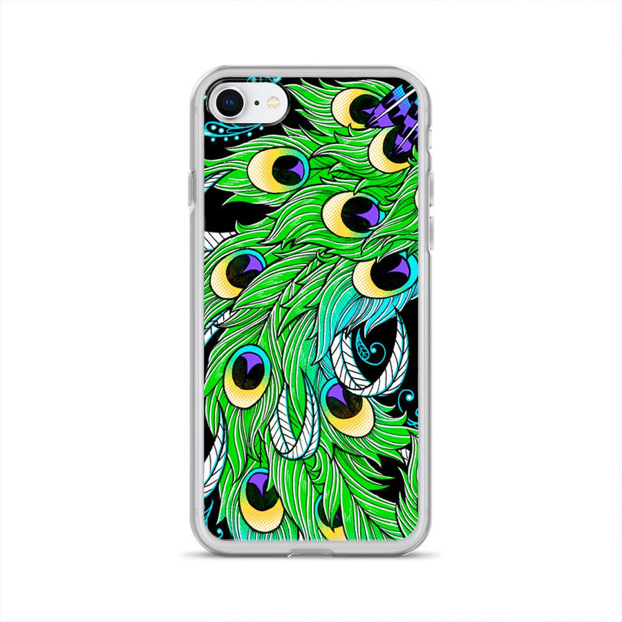 Peacock Feathers iPhone 7/8 Clip on Case