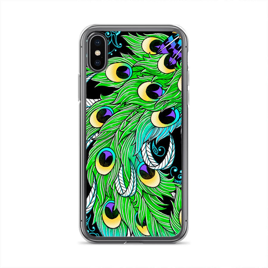 Peacock Feathers iPhone X Clip on Case
