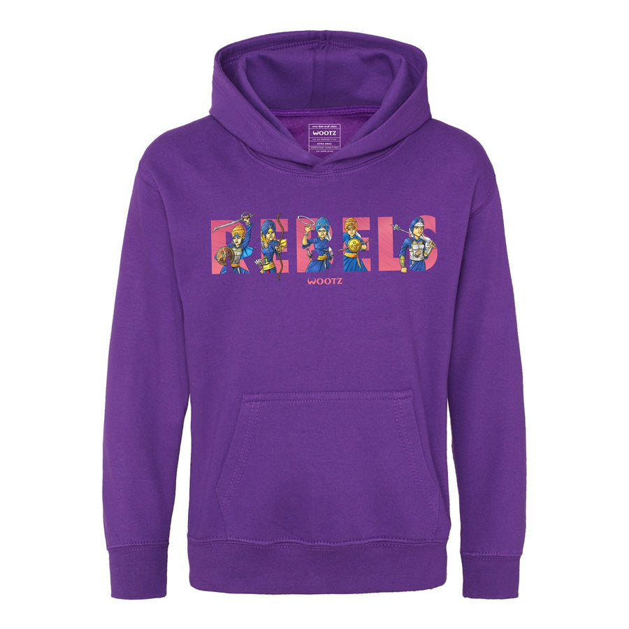 Rebels Kids Hoodie Purple