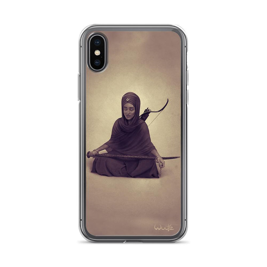Reflection Sepia iPhone X Clip on Case