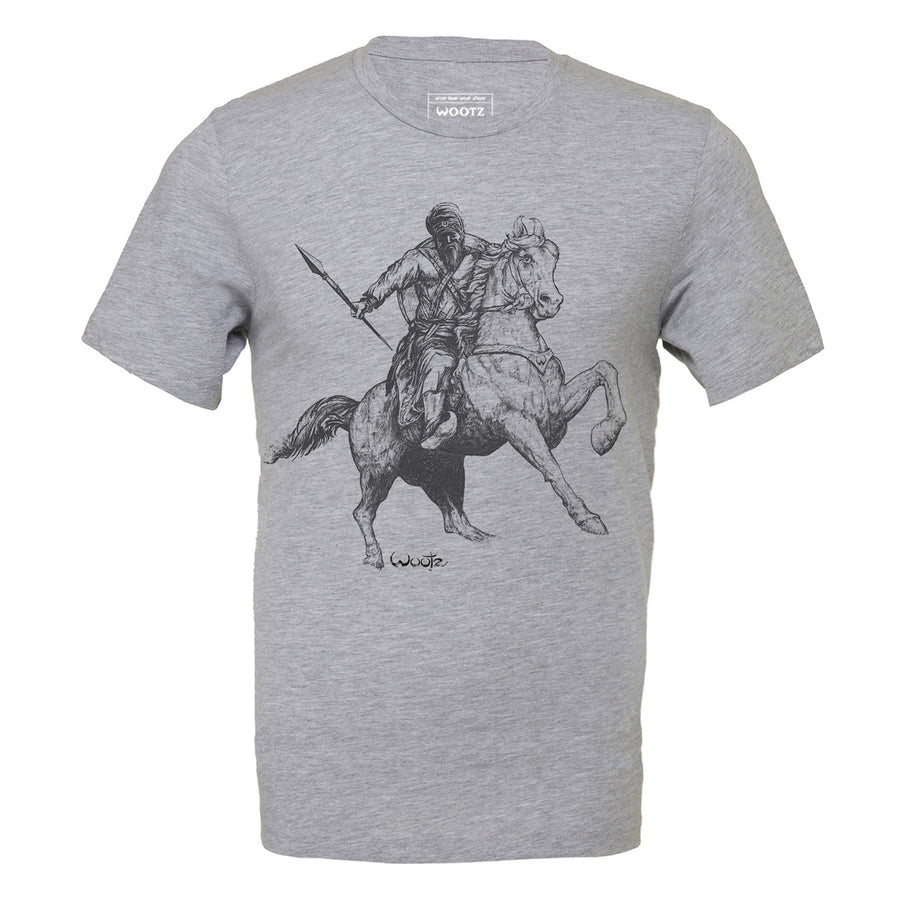 Warrior on Horseback Heather Grey Tee