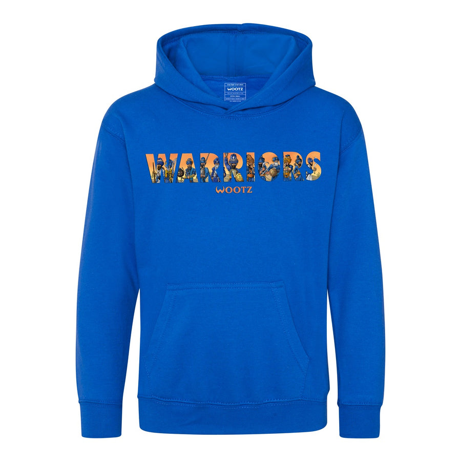 Warriors Kids Hoodie Royal Blue