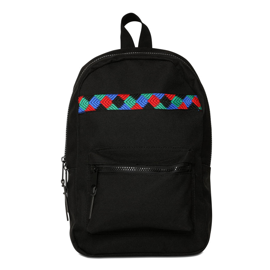 Phulkari Pattern Mini Backpack Black/Red/Blue/Green