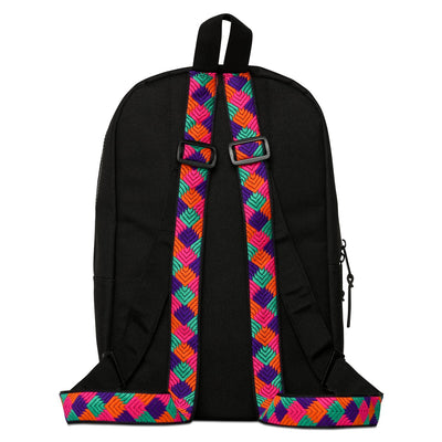 Phulkari Pattern Mini Backpack Purple/Orange/Pink/Green