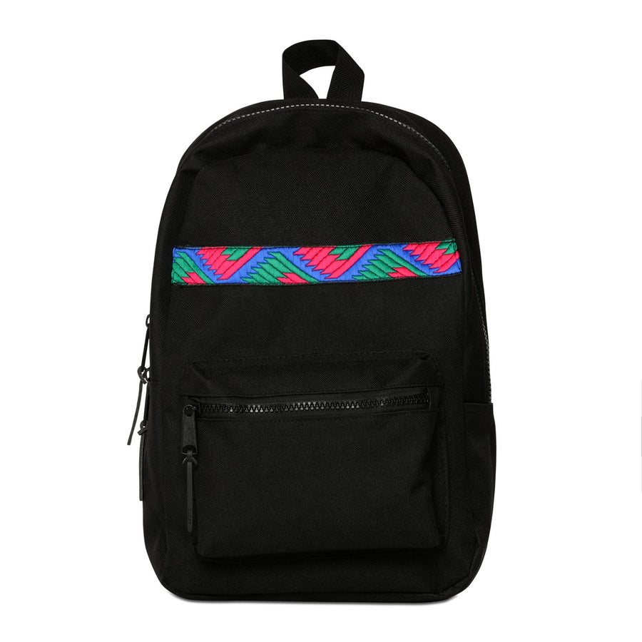 Phulkari Pattern Mini Backpack Pink/Green/Blue