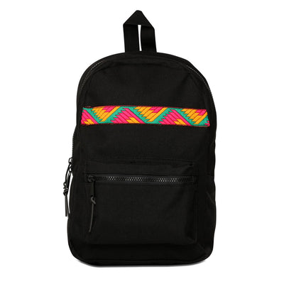Phulkari Pattern Mini Backpack Pink/Yellow/Green