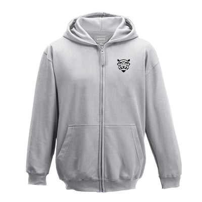 Tiger Logo Zip Hoodie Heather Grey
