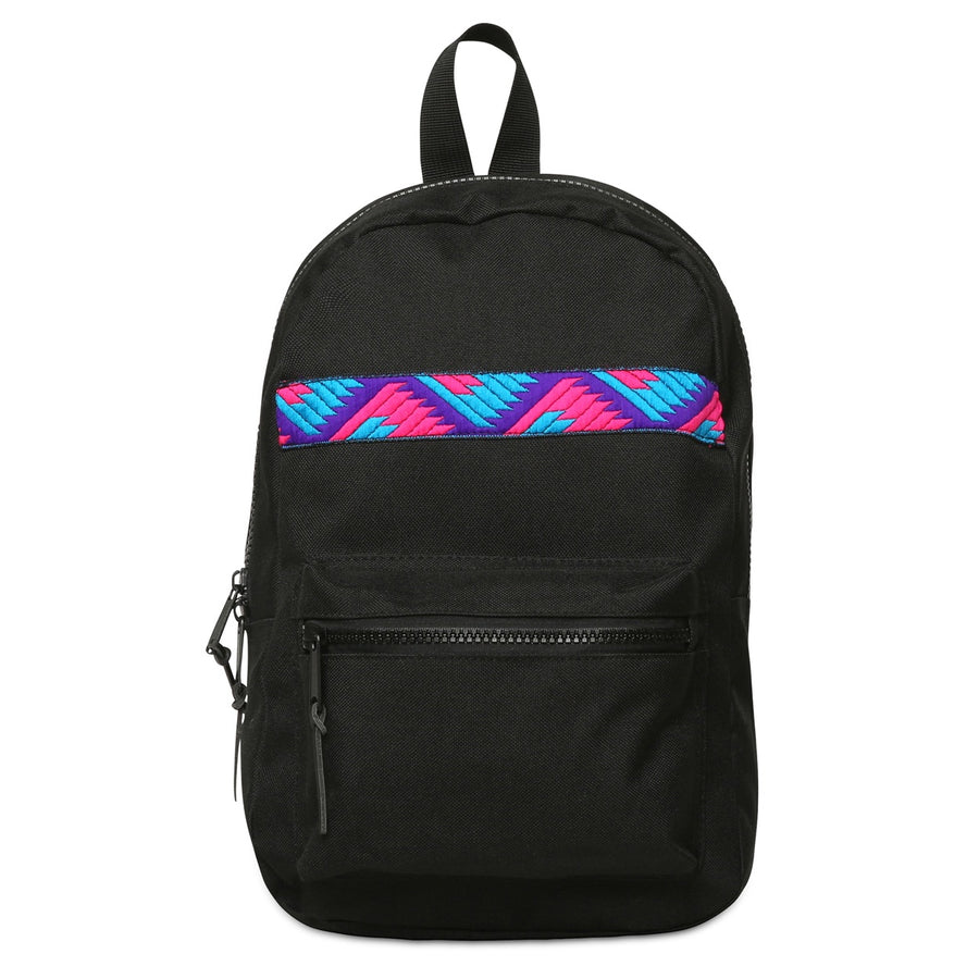 Phulkari Pattern Mini Backpack Pink/Blue/Purple