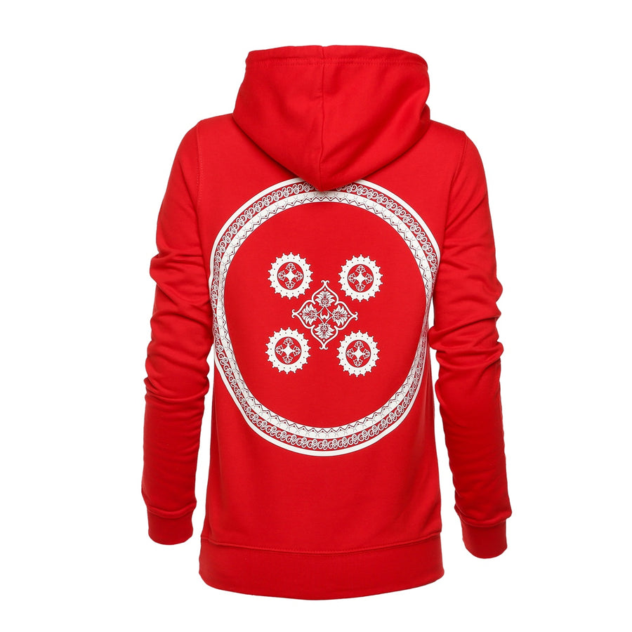 Shield Pullover Hoodie Red