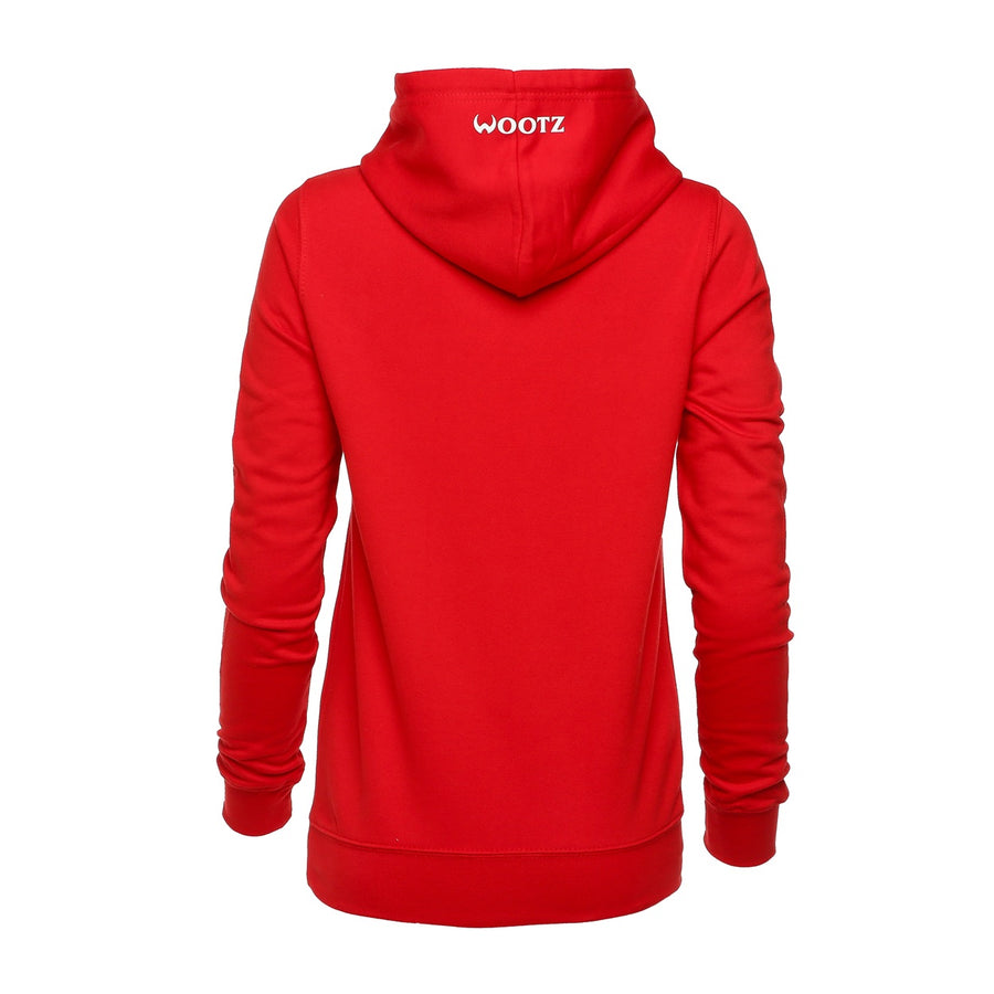 Tiger Logo Pullover Hoodie Red