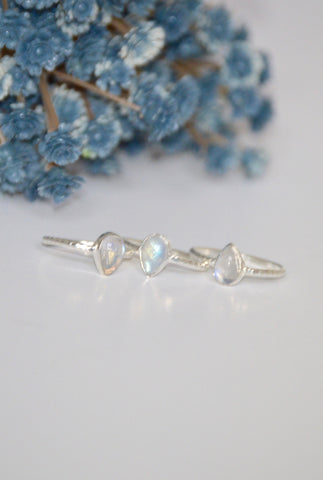 Dainty Sterling Silver Moonstone Ring