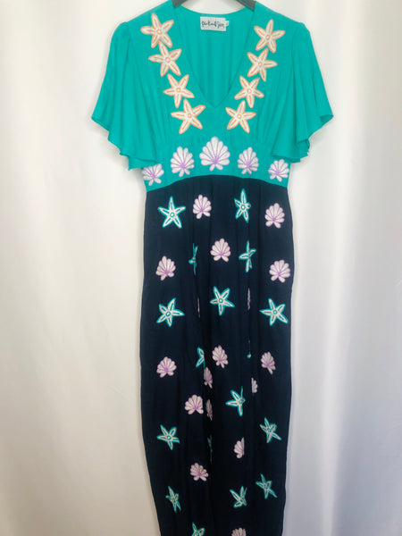 Mermaid Cove Embroidered Maxi Resort Dress