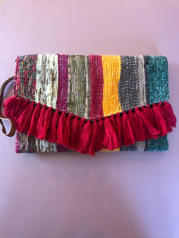 Handwoven Clutch (Red)
