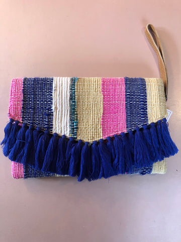 Handwoven Clutch (Navy Blue)