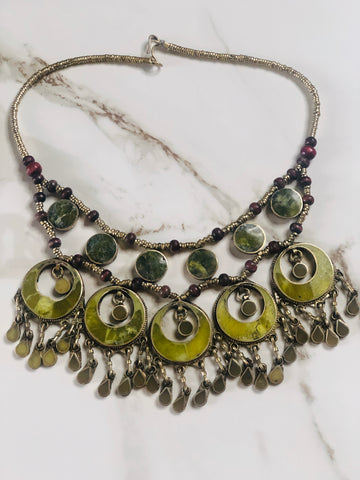 Vintage Jade Statement Necklace