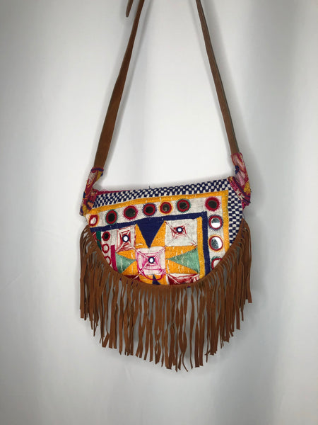 Boho Fringe Embroidered Fanny Pack/ Crossbody