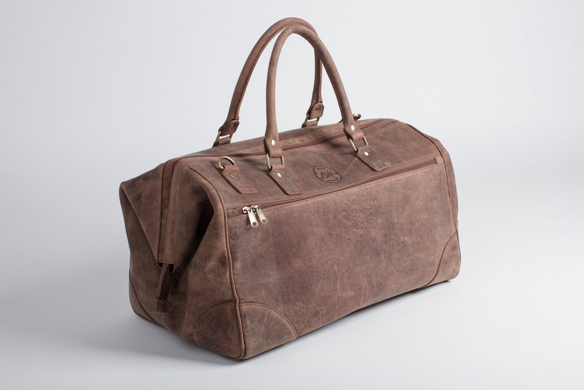 Tan leather holdall doctors bag
