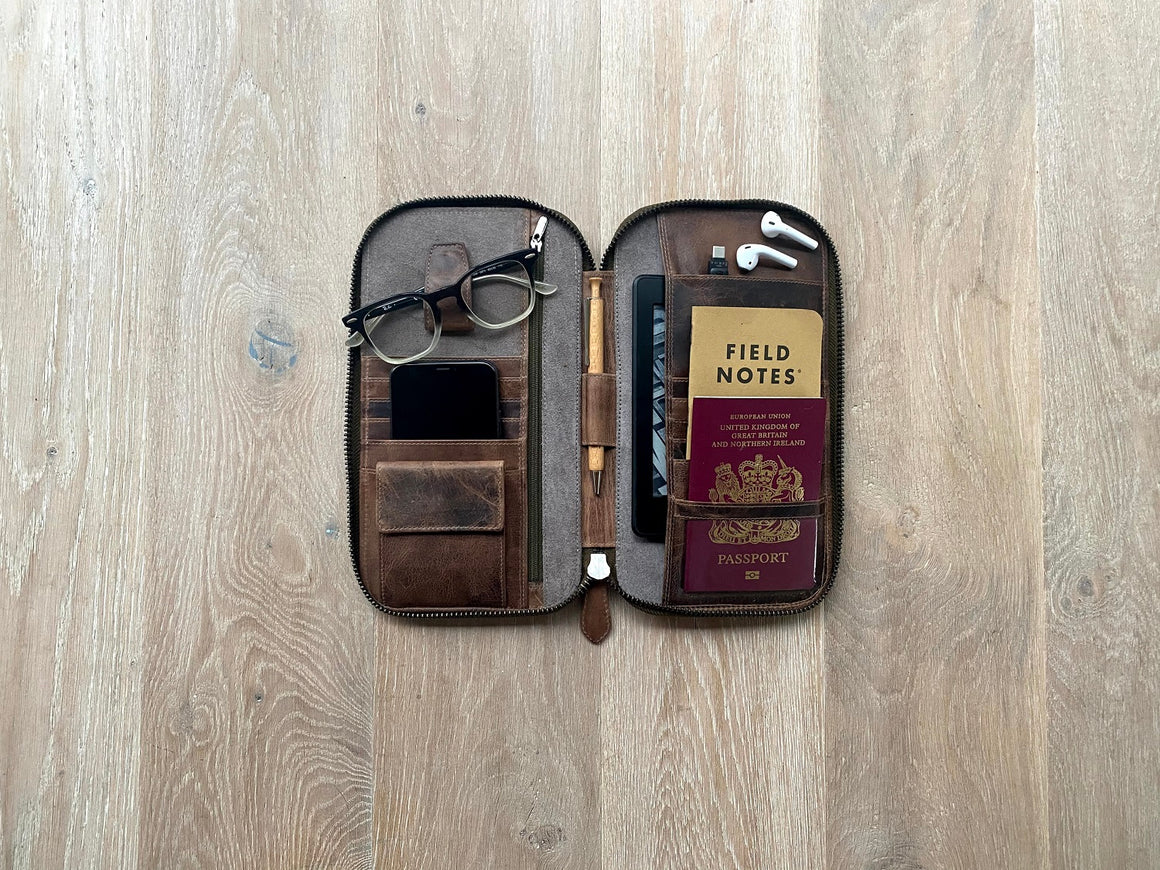 Travel Wallet Small - Umber