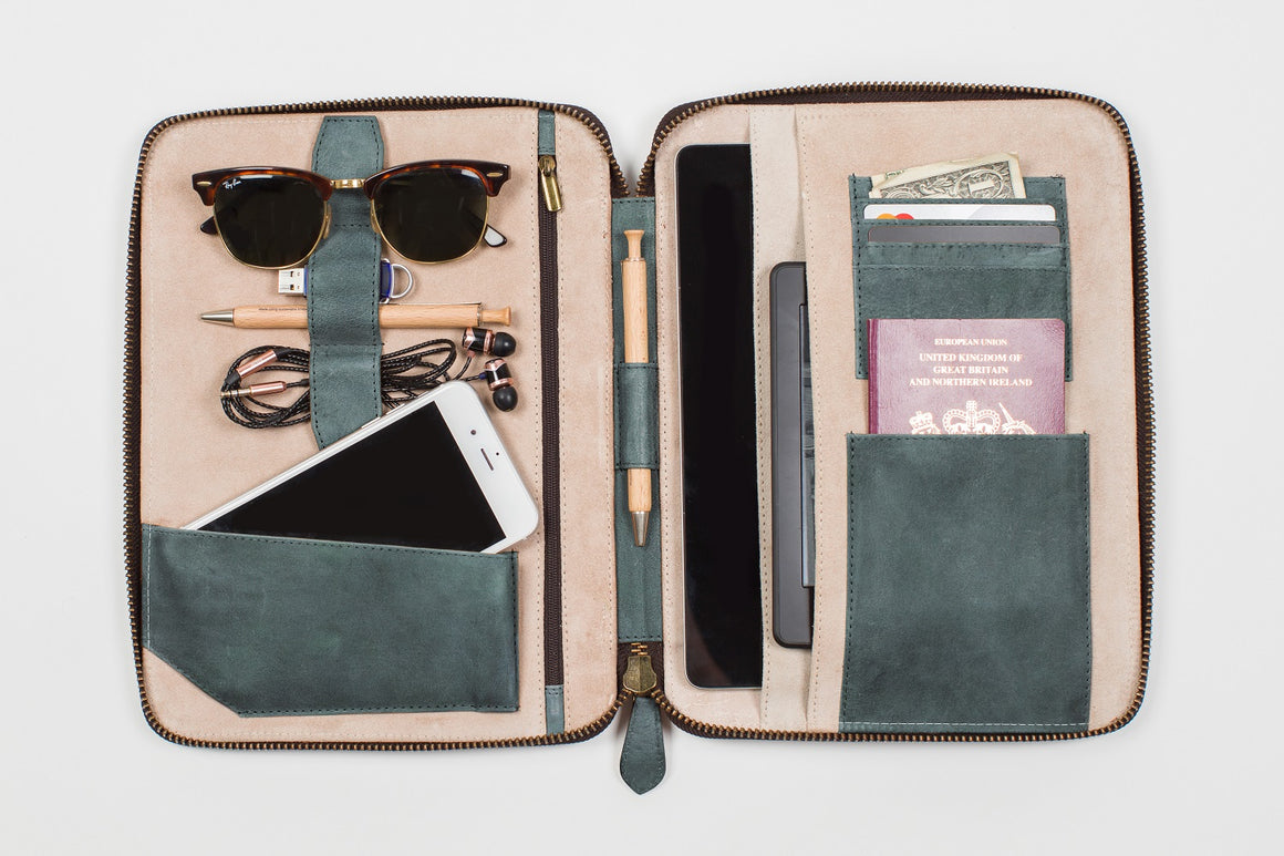 Travel Wallet Organizer - Chesterfield Green (5 sizes)