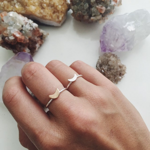 Crescent Stacking Ring