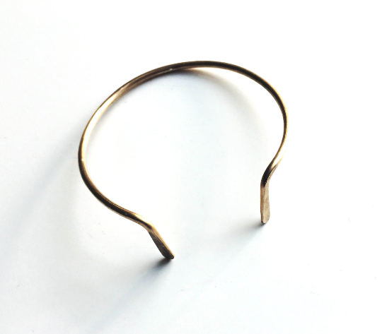 Curved Hammered Cuff Bracelet