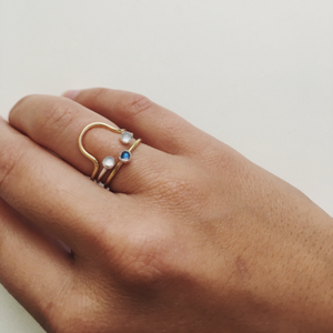 Double Stone Stacking Ring